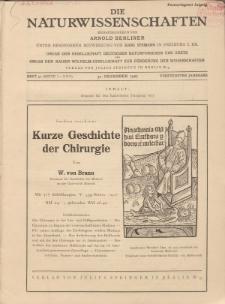 Die Naturwissenschaften. Wochenschrift..., 15. Jg. 1927, 30. Dezember, Heft 52.