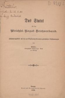 Das Statut für den Weichsel – Nogat – Deichverband […]