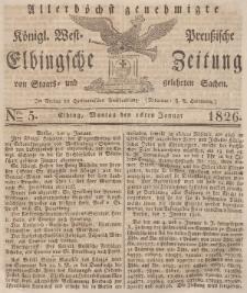 Elbingsche Zeitung, No. 5 Montag, 16 Januar 1826
