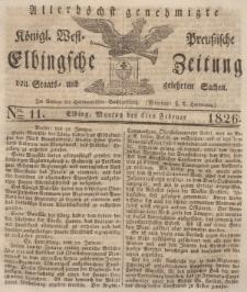 Elbingsche Zeitung, No. 11 Montag, 6 Februar 1826