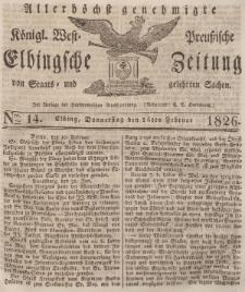 Elbingsche Zeitung, No. 14 Donnerstag, 16 Februar 1826