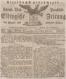 Elbingsche Zeitung, No. 16 Donnerstag, 23 Februar 1826