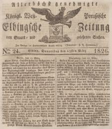 Elbingsche Zeitung, No. 24 Donnerstag, 23 März 1826