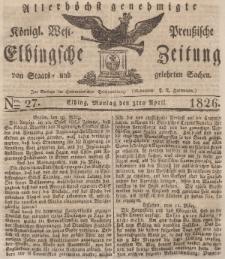 Elbingsche Zeitung, No. 27 Montag, 3 April 1826
