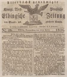 Elbingsche Zeitung, No. 28 Donnerstag, 6 April 1826