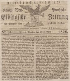 Elbingsche Zeitung, No. 31 Montag, 17 April 1826