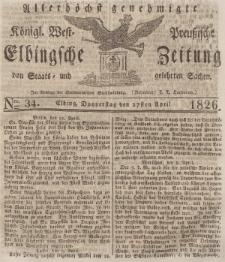 Elbingsche Zeitung, No. 34 Donnerstag, 27 April 1826