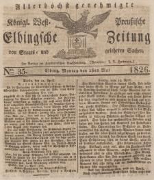 Elbingsche Zeitung, No. 35 Montag, 1 Mai 1826