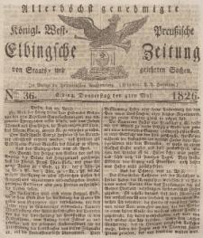 Elbingsche Zeitung, No. 36 Donnerstag, 4 Mai 1826