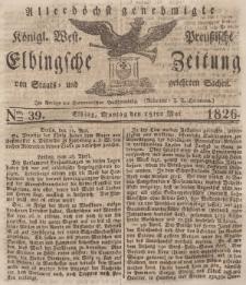 Elbingsche Zeitung, No. 39 Montag, 15 Mai 1826