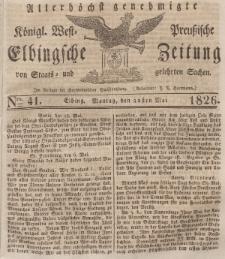 Elbingsche Zeitung, No. 41 Montag, 22 Mai 1826