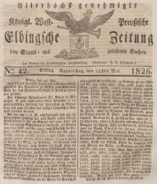Elbingsche Zeitung, No. 42 Donnerstag, 25 Mai 1826