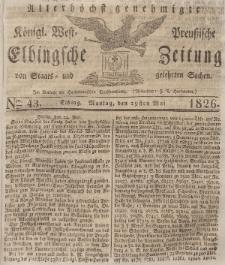 Elbingsche Zeitung, No. 43 Montag, 29 Mai 1826