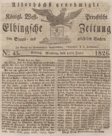 Elbingsche Zeitung, No. 45 Montag, 5 Juni 1826