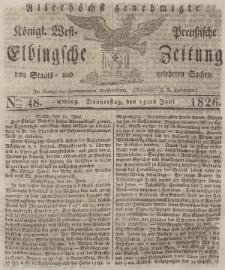 Elbingsche Zeitung, No. 48 Donnerstag, 15 Juni 1826