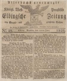 Elbingsche Zeitung, No. 49 Montag, 19 Juni 1826