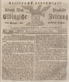 Elbingsche Zeitung, No. 50 Donnerstag, 22 Juni 1826