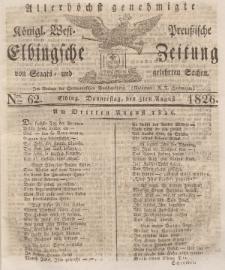 Elbingsche Zeitung, No. 62 Donnerstag, 3 August 1826