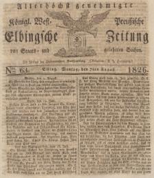 Elbingsche Zeitung, No. 63 Montag, 7 August 1826