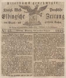 Elbingsche Zeitung, No. 67 Montag, 21 August 1826