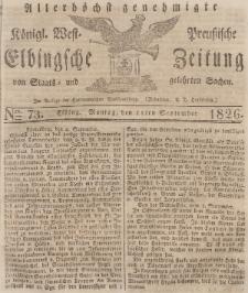 Elbingsche Zeitung, No. 73 Montag, 11 September 1826
