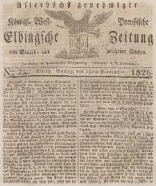 Elbingsche Zeitung, No. 75 Montag, 18 September 1826