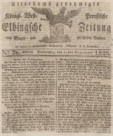 Elbingsche Zeitung, No. 76 Donnerstag, 21 September 1826