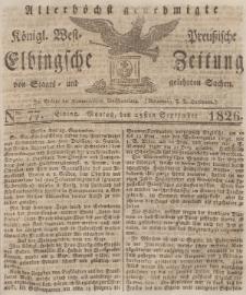 Elbingsche Zeitung, No. 77 Montag, 25 September 1826