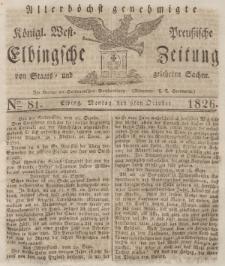Elbingsche Zeitung, No. 81 Montag, 9 Oktober 1826
