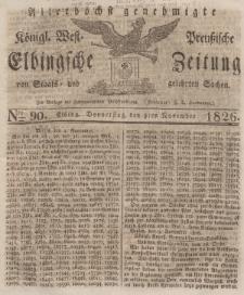 Elbingsche Zeitung, No. 90 Donnerstag, 9 November 1826