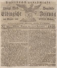 Elbingsche Zeitung, No. 91 Montag, 13 November 1826