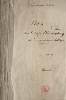 Acten der Diöcese Marienburg betr. die angneordneten Festtage