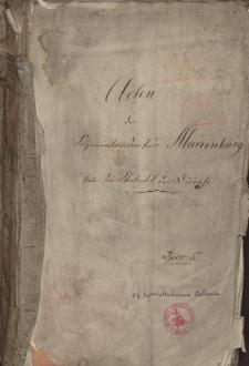 Acten der Superintendentur Marienburg betr. die Statistik der Diöcese