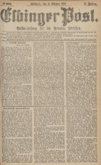 Elbinger Post, Nr.232 Mittwoch 4 October 1876, 3 Jh