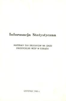 Informacja Statystyczna - Materiały dla Delegatów na Zjazd Założycielski WZSP w Elblągu - broszura