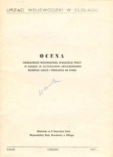Ocena Działalności WSP w Elblągu ... Rozwoju usług i produkcji na rynek wersja ostateczna - broszura
