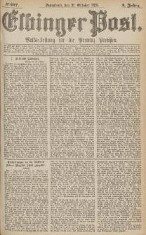Elbinger Post, Nr.247 Sonnabend 21 October 1876, 3 Jh