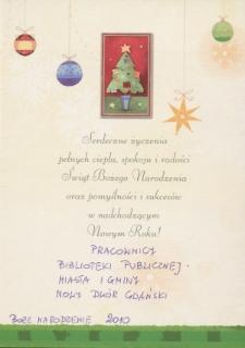 Życzenia Świąteczne Dla Bibliotekarzy – kartka świąteczna