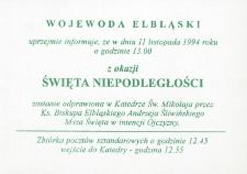 Święto Niepodległości z 1994 (Msza) - informacja