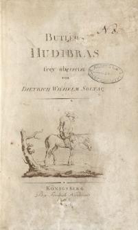Butlers Hudibras frey übersetz von Dietrich Wilhelm Soltau