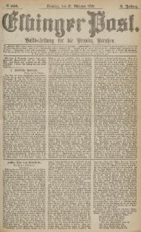 Elbinger Post, Nr.255 Dienstag 31 October 1876, 3 Jh