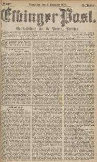 Elbinger Post, Nr.257 Donnerstag 2 November 1876, 3 Jh