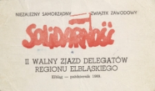 II Walny Zjazd Delegatów Regionu Elbląskiego (1989) - mandat delegata