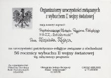 Uroczystości związane z wybuchem II wojny światowej - zaproszenie