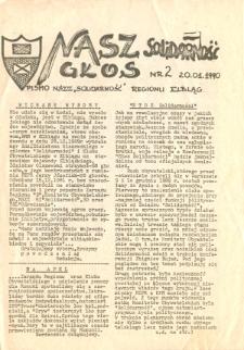 """Nasz Głos. Biuletyn Informacyjny NSZZ """"Solidarność"""" Regionu Elbląskiego, 1990, nr 2 [wydanie powielaczowe]"""