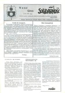 """Nasz Głos. Biuletyn Informacyjny NSZZ """"Solidarność"""" Regionu Elbląskiego, 1993, nr 3 (5)"""