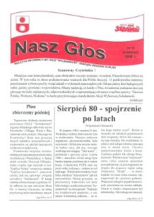 """Nasz Głos. Biuletyn Informacyjny NSZZ """"Solidarność"""" Regionu Elbląskiego, 1998, nr 9"""