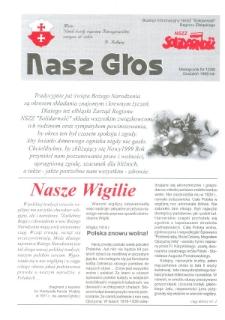 """Nasz Głos. Biuletyn Informacyjny NSZZ """"Solidarność"""" Regionu Elbląskiego, 1998, nr 12"""