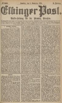 Elbinger Post, Nr.260 Sonntag 5 November 1876, 3 Jh