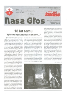 """Nasz Głos. Biuletyn Informacyjny NSZZ """"Solidarność"""" Regionu Elbląskiego, 1999, nr 1"""